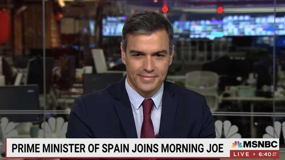 Sánchez, durante su entrevista en la cadena MSNBC.