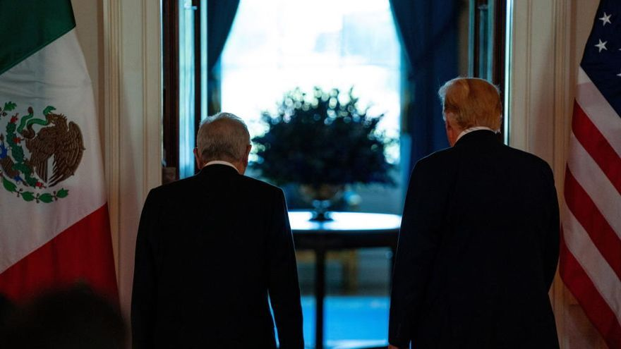 Reunión entre Donald Trump y Andrés Manuel López Obrador