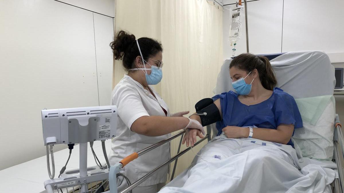 Una paciente de coronavirus.
