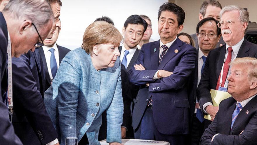 Trump retira su apoyo al comunicado final del G7 después de firmarlo