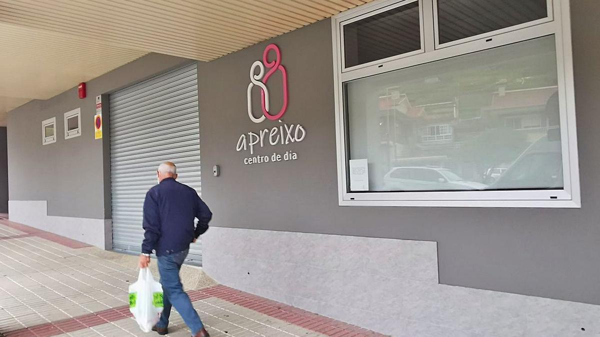 Centro de día Apreixo, en Moaña, que ha tenido que cerrar tras un brote de Covid. |   // SANTOS ÁLVAREZ