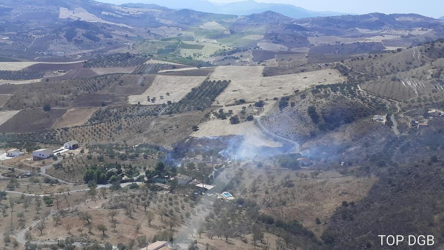 Declarado un incendio forestal en Casabermeja