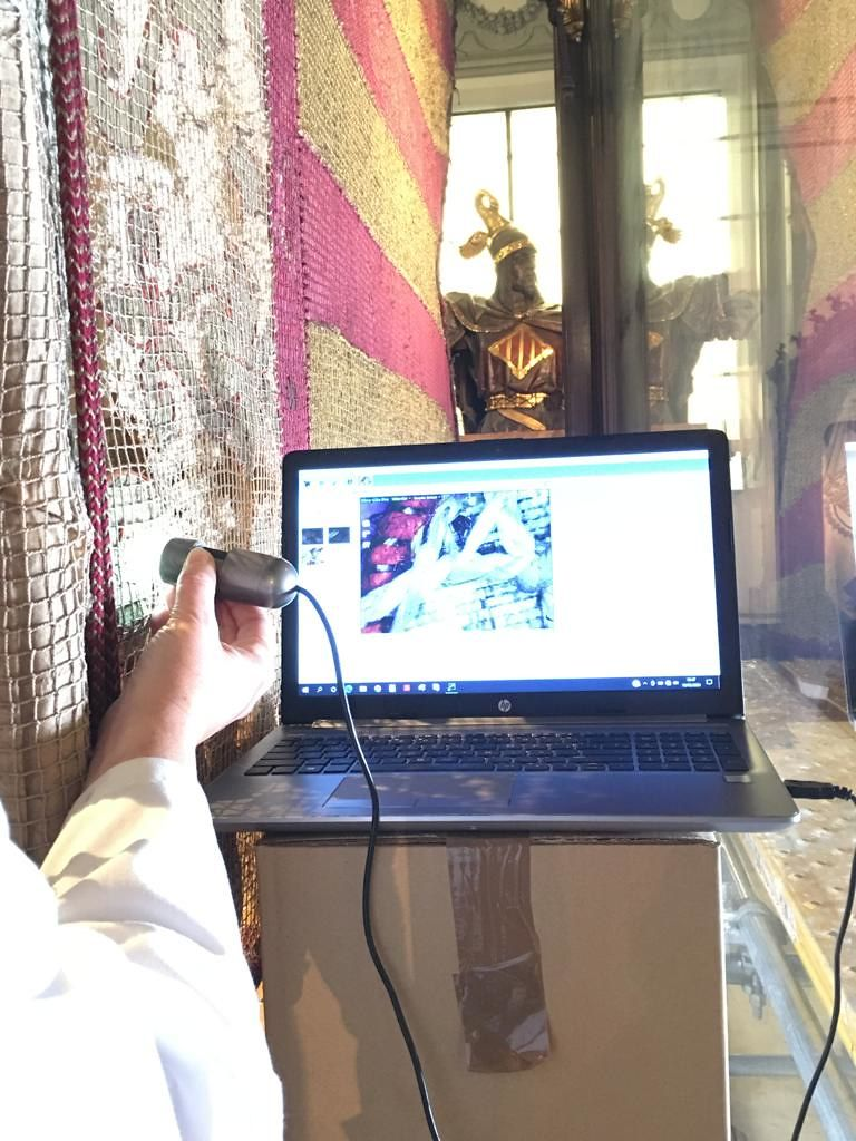 Analizan hilo a hilo la Real Senyera de 1545 para hacer una réplica