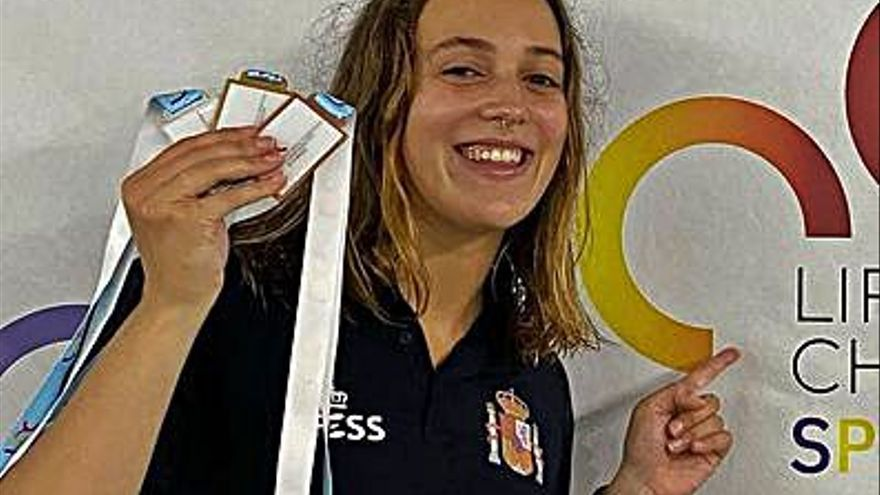 Tres medallas para Antía García en el Europeo