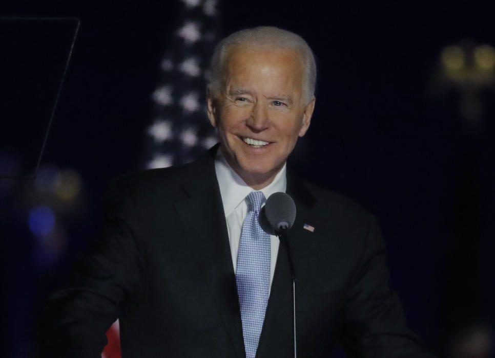 Joe Biden celebra su victoria en las elecciones de EEUU.