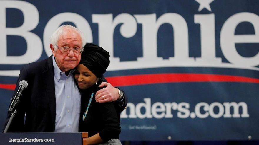 Una imagen del senador Bernie Sanders.