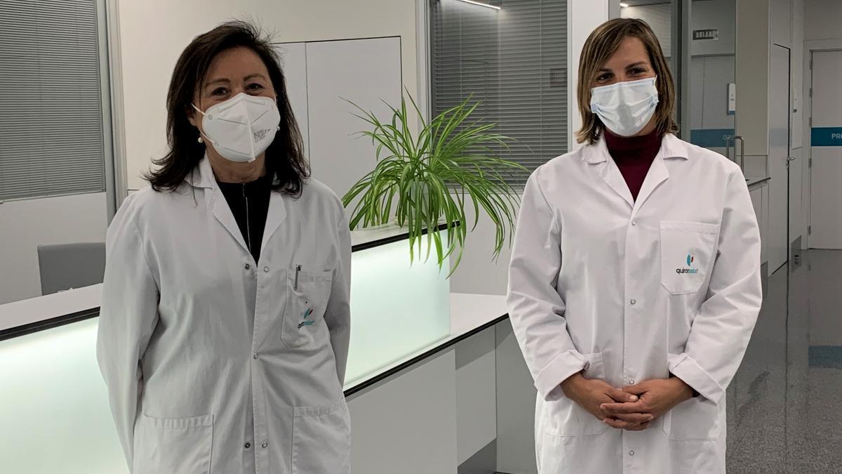 Las doctoras Rubio y Velasco del Hospital Quirónsalud Córdoba