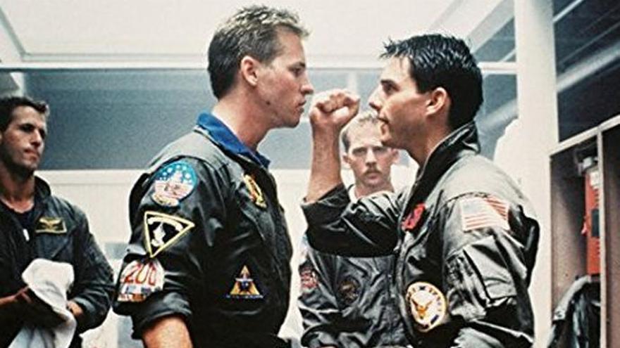 Val Kilmer y Tom Cruise se reencuentran en la secuela de 'Top Gun'