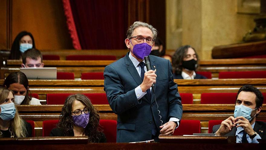 El conseller Jaume Giró ha anunciat que el fons seria avalat per l'ICF | DAVID ZORRAKINO