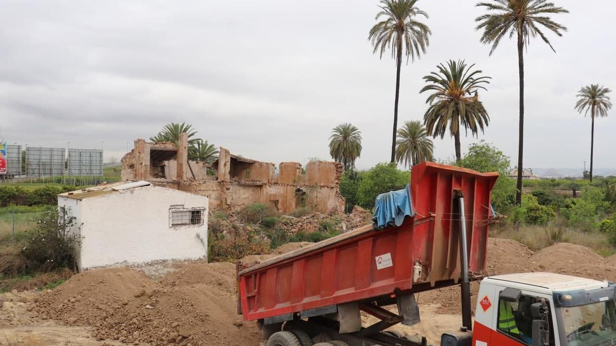 Imagen de las obras en la zona de la casa de Antonete Gálvez