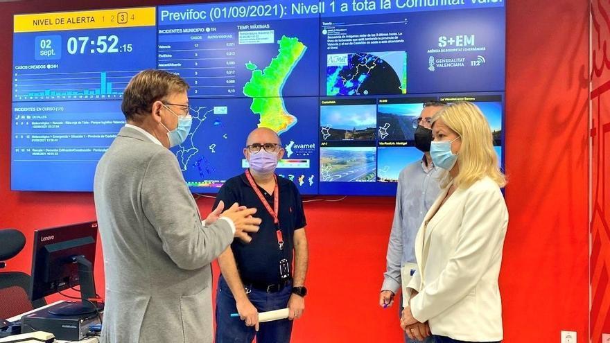 Puig afirma que la situación por lluvias está estabilizada y está en contacto con los alcaldes de las zonas más afectadas