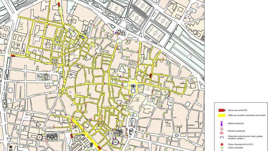 Listado de calles y vehículos sometidos a autorización en Valencia