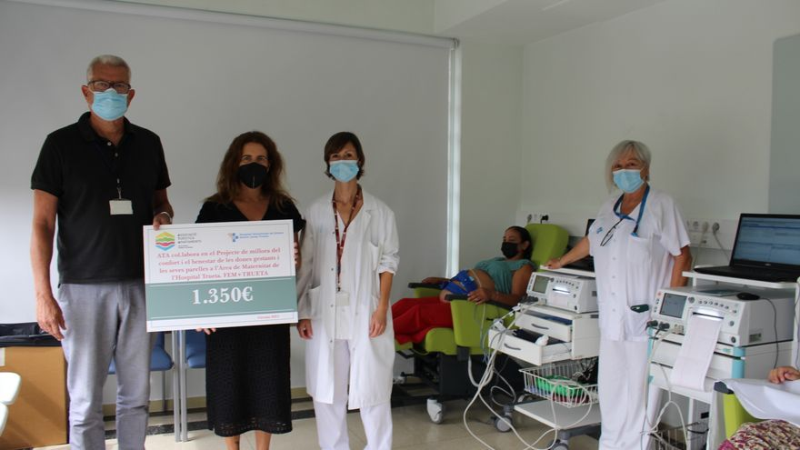 Els apartaments gironins col·laboren en el projecte de millora de l'Àrea de Maternitat de l'Hospital Trueta