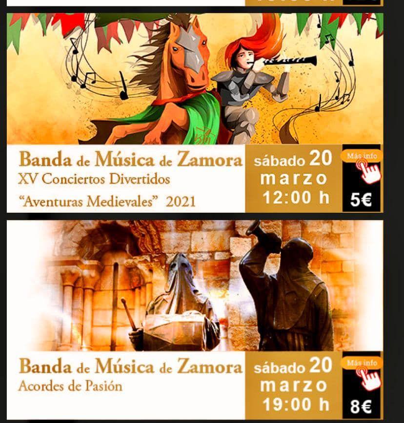 Conciertos de la Banda de Música de Zamora.