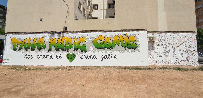 La comisión de Músico Gomis ambienta ya las Fallas 2021