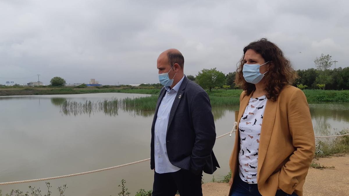 Tuzón con el alcalde de Massamagrell, Paco Gómez.