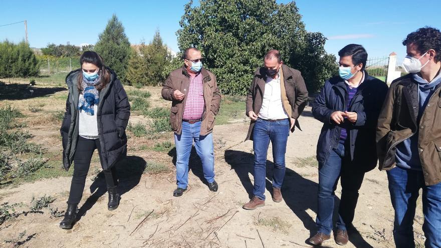 Francisco Requejo visita el vivero de la Diputación de Zamora