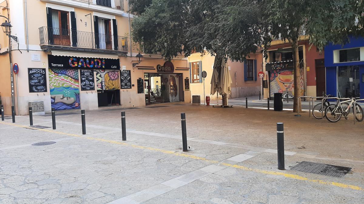 La plaza de Sa Quartera es una de las incluidas en el plan zonal que reduce la superficie de ocupación de las terrazas.