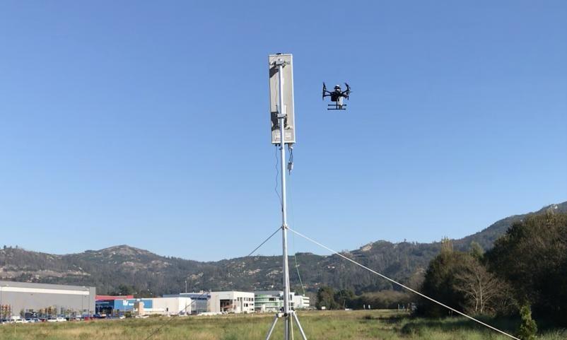 Uno de los vuelos de prueba del proyecto en Porto do Molle, donde se instaló la antena 5G