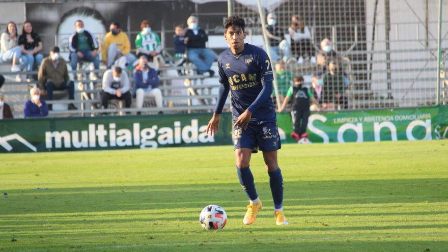 Johan, en el partido ante el Atlético Sanluqueño.