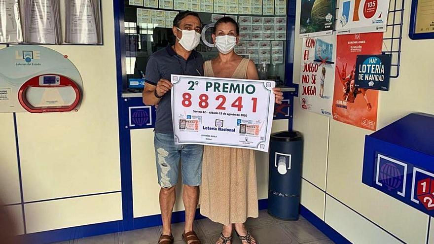 El segundo premio de la lotería deja 480.000 euros en Riola