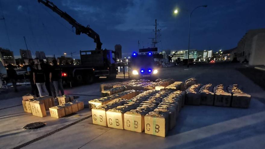 Droga intervenida en Las Palmas