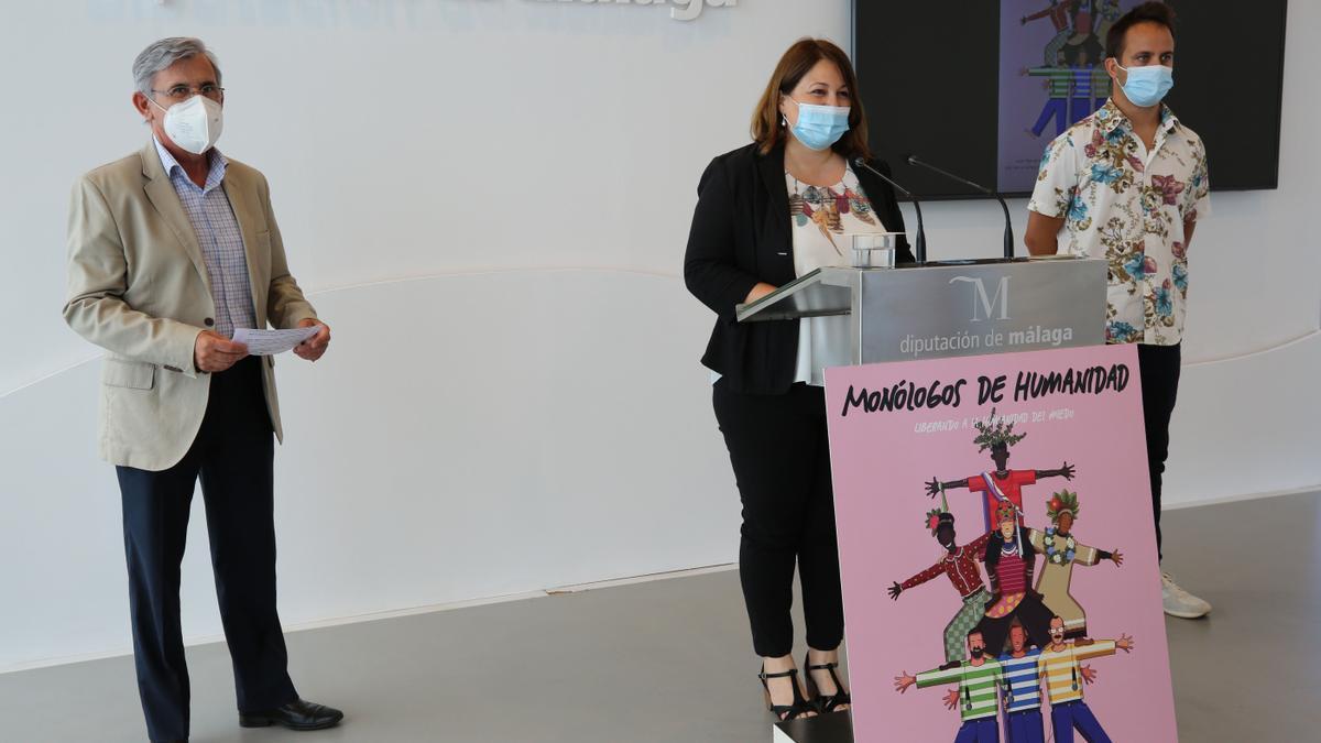 Presentación del evento de Cruz Roja Málaga 'Monólogos de humanidad', que se celebrará el 24 de junio en el auditorio Edgar Neville de la Diputación provincial