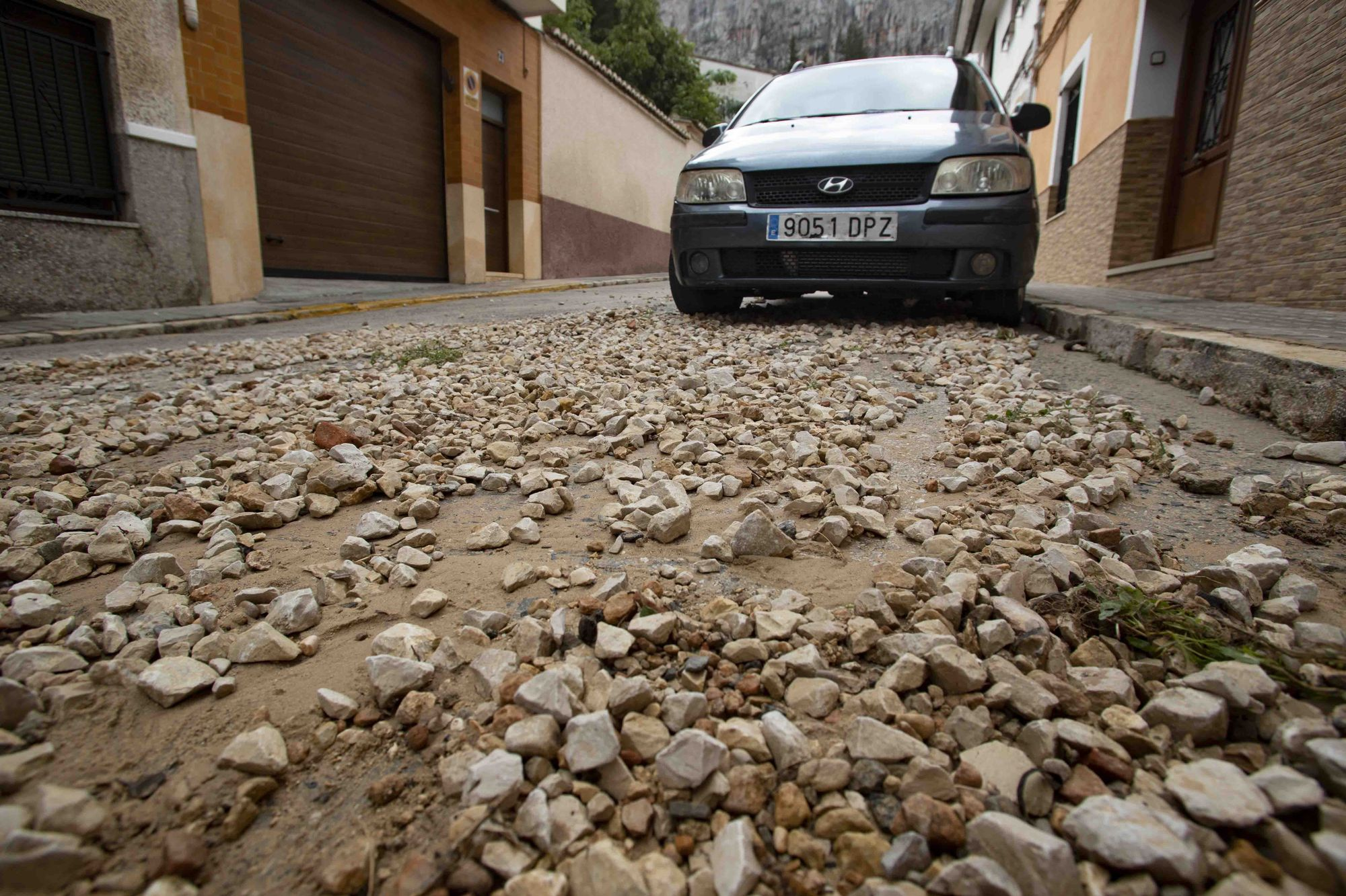 La tromba deja múltiples desperfectos en Xàtiva