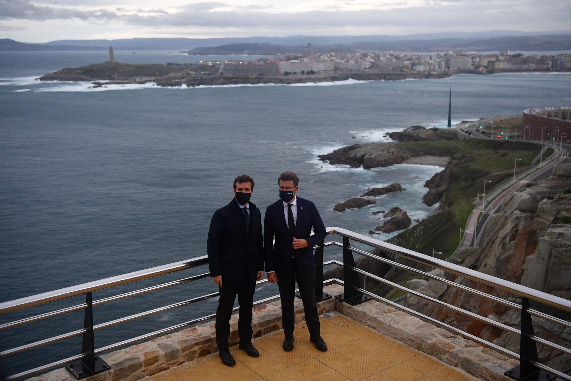 Pablo Casado, en A Coruña