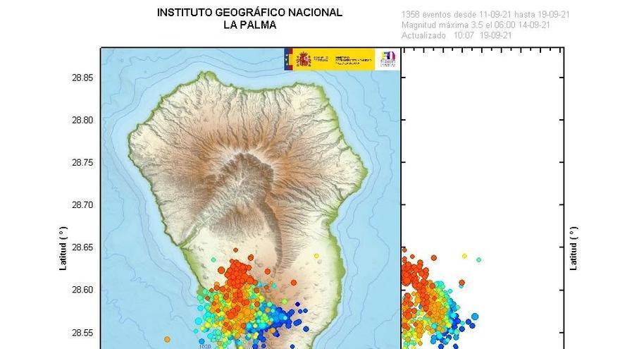 La superficie de La Palma se eleva hasta los 15 centímetros