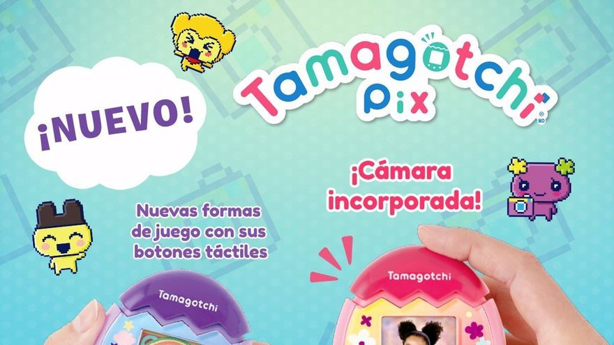 Vuelve el Tamagotchi, renovado con cámara, pantalla a color y botones táctiles