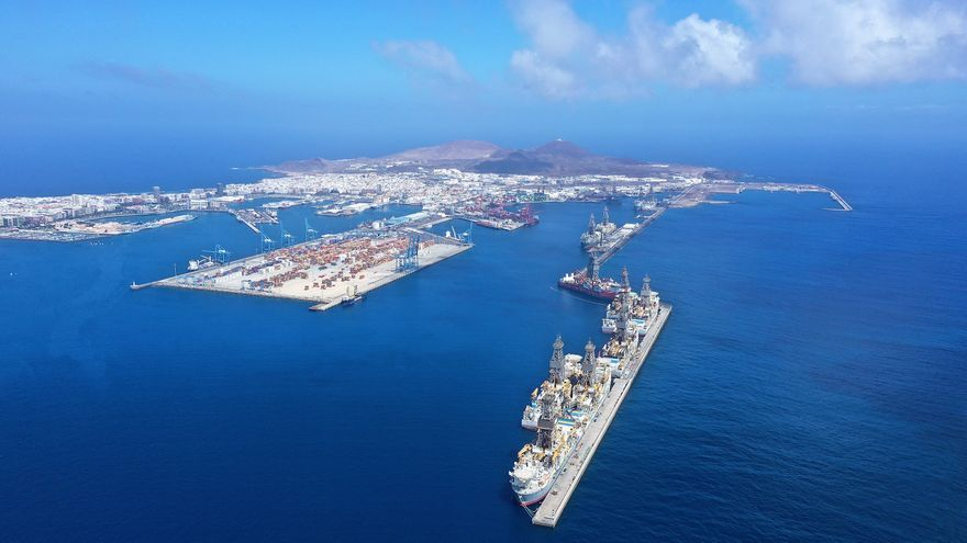 El tráfico en los puertos de Las Palmas, un 7% más que en 2019 hasta agosto