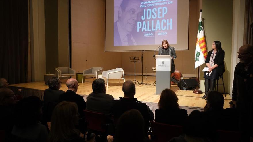 Josep Pallach recordat en un acte a Figueres en el centenari del seu naixement