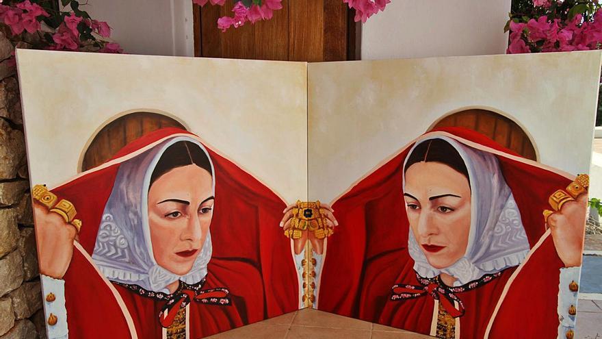 Homenaje de Tere Bonet a la cultura ibicenca a través de la pintura
