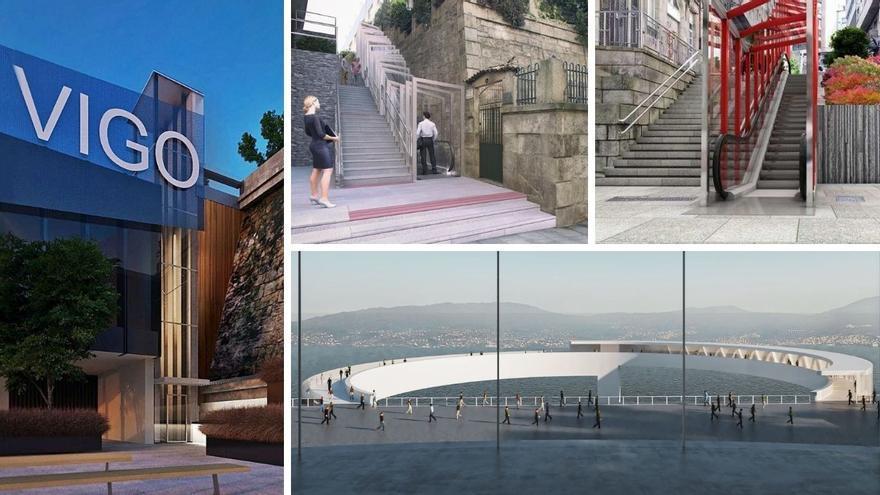 ¿Cómo serán y dónde estarán los nuevos ascensores, escaleras y rampas mecánicas de Vigo?