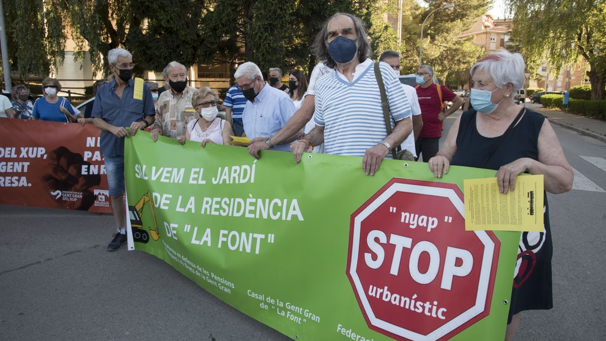 Imatge d'arxiu d'una protesta d'entitats