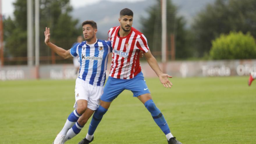 El Sporting cae derrotado 0-2 en el primer test serio de la pretemporada, frente a la Real Sociedad B