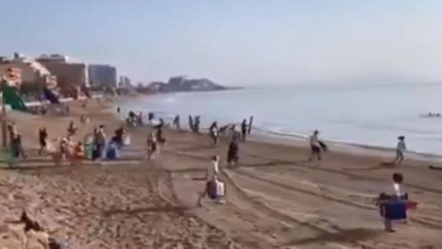 """Indignación en Orpesa por """"los egoístas que ocupan la primera línea de playa y se vuelven a su casa"""""""