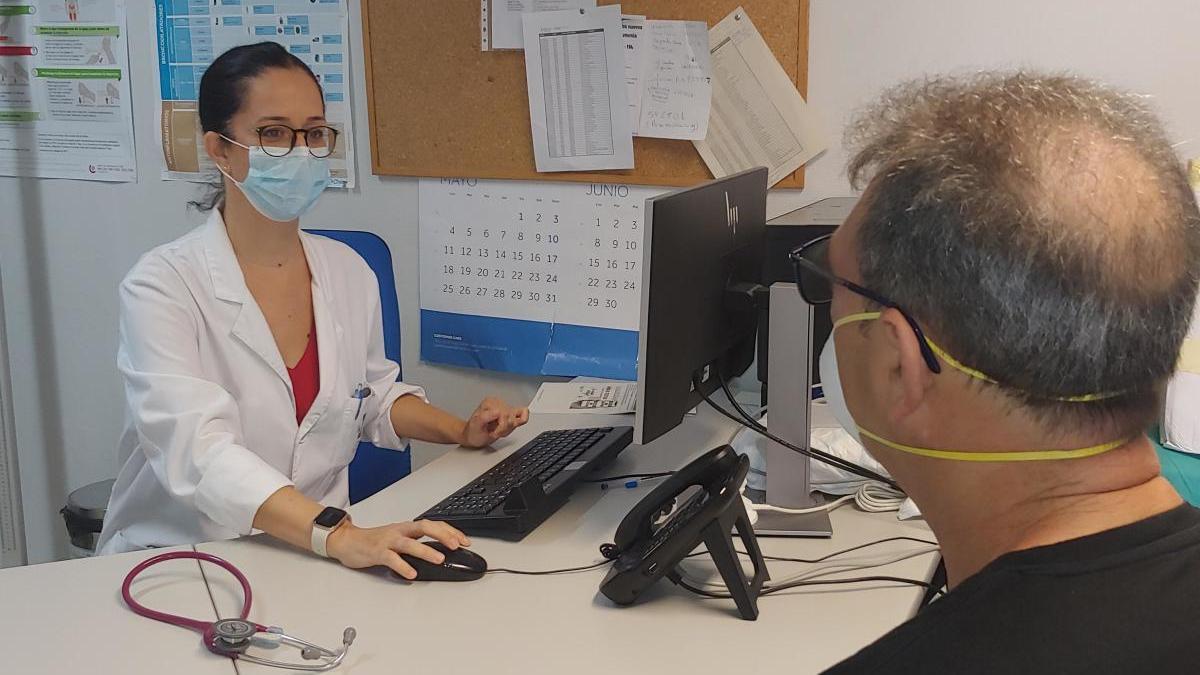 Imagen de la consulta de neumología.