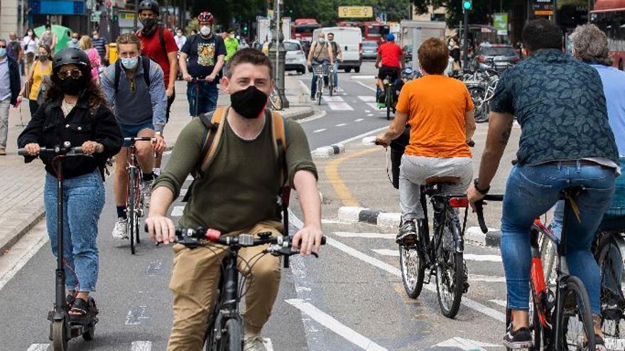Nuevos carriles bicis en València