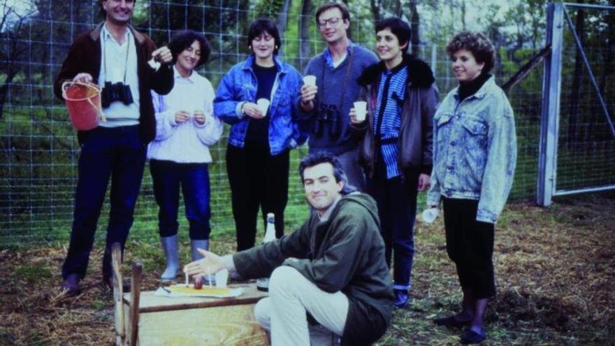 Els «pares» de la cigonya Guita la recorden amb motiu del seu 33 aniversari