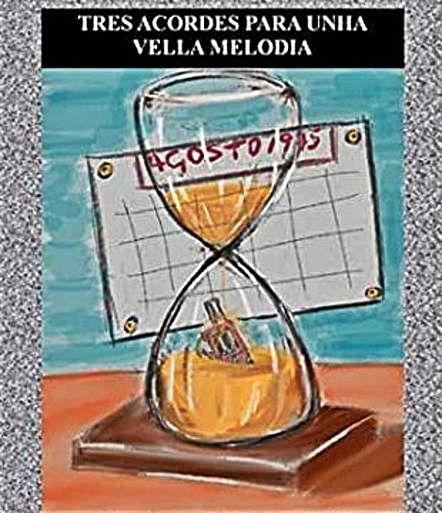 """Portada de """"Tres acordes e unha vella melodía"""".   // JOSÉ BARBADILLA"""