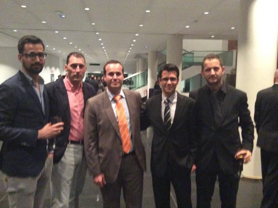 Andrés Valdés, Daniel Burda, Noé García, gerente de Lokímica, Rodrigo Tovar, director de comunicación de Lokímica y Víctor Pérez