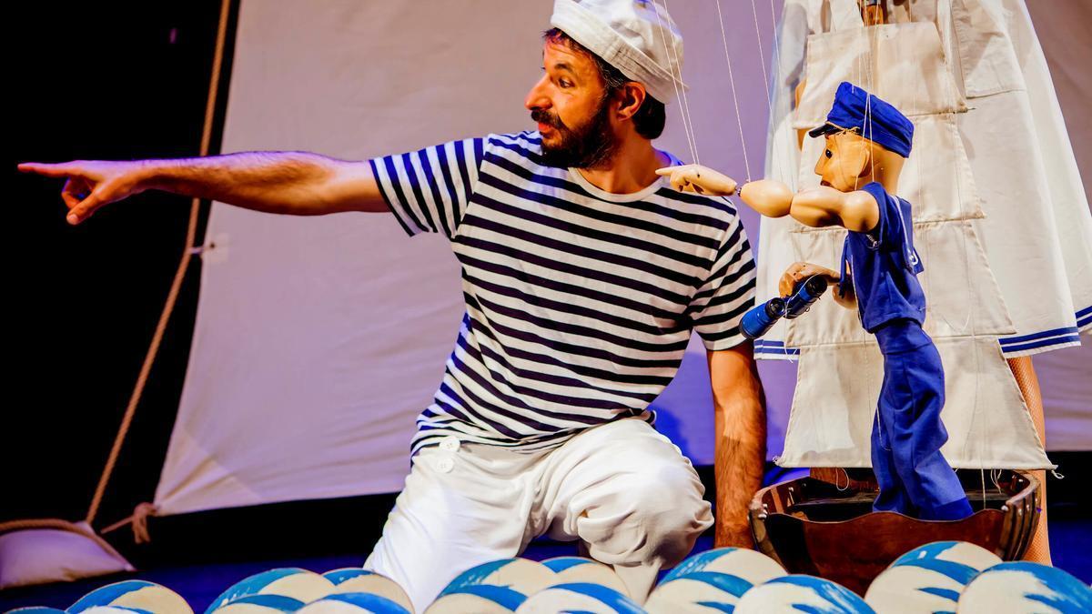 Una actuació de Zipit Company al Festival de Titelles de Moià 2020