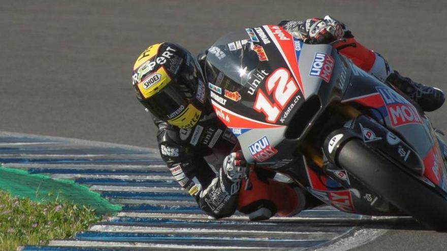 Luthi y Ogura dominan en los entrenamientos de Moto2 y Moto3 del circuito de Jerez