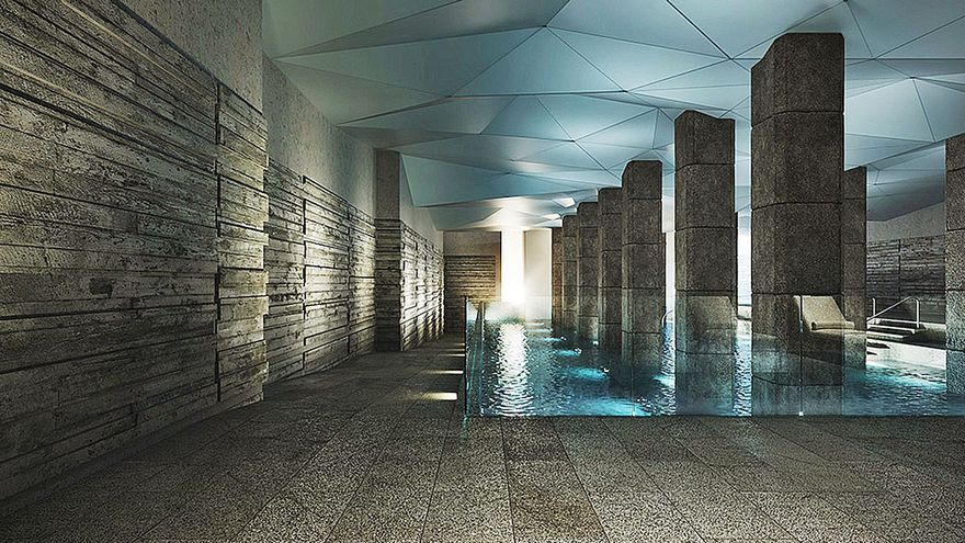 Una piscina termal en los 600 metros del sótano de la Plaza de Abastos