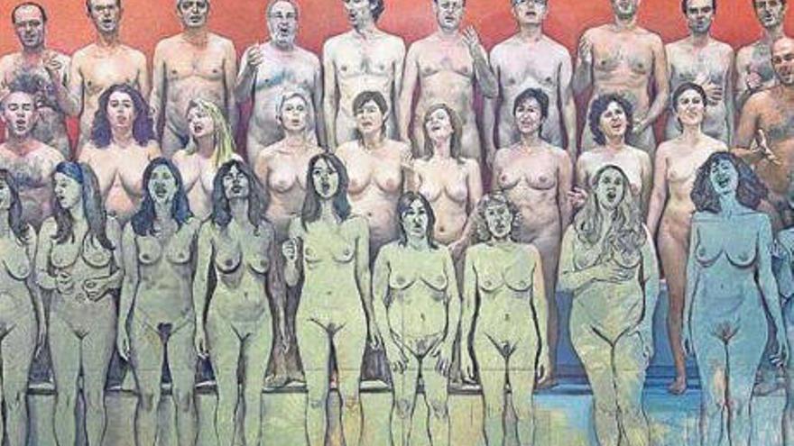 Un coro desnudo