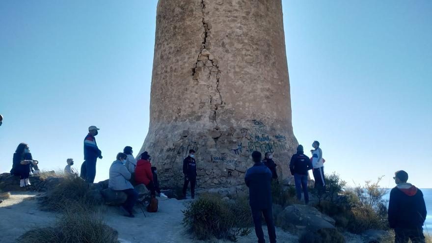 La Torre de Reixes de El Campello entra en la Lista Roja de patrimonio en peligro