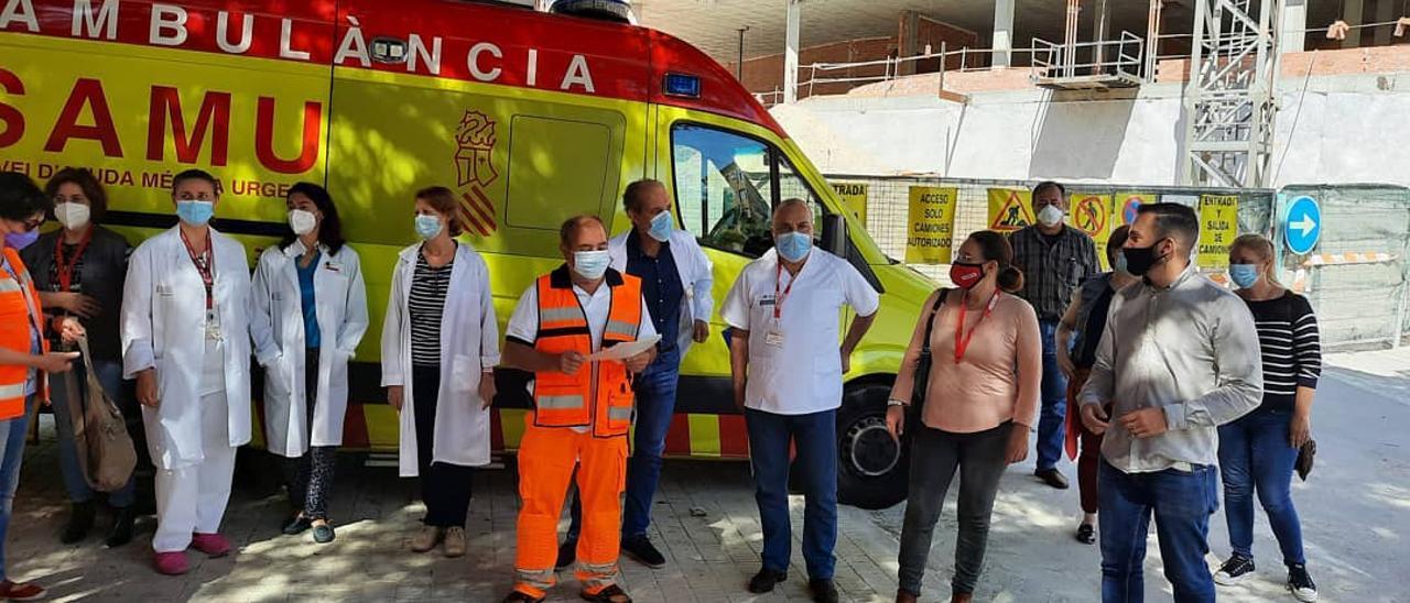 Un momento del encuentro esta mañana en el Hospital General de Alicante