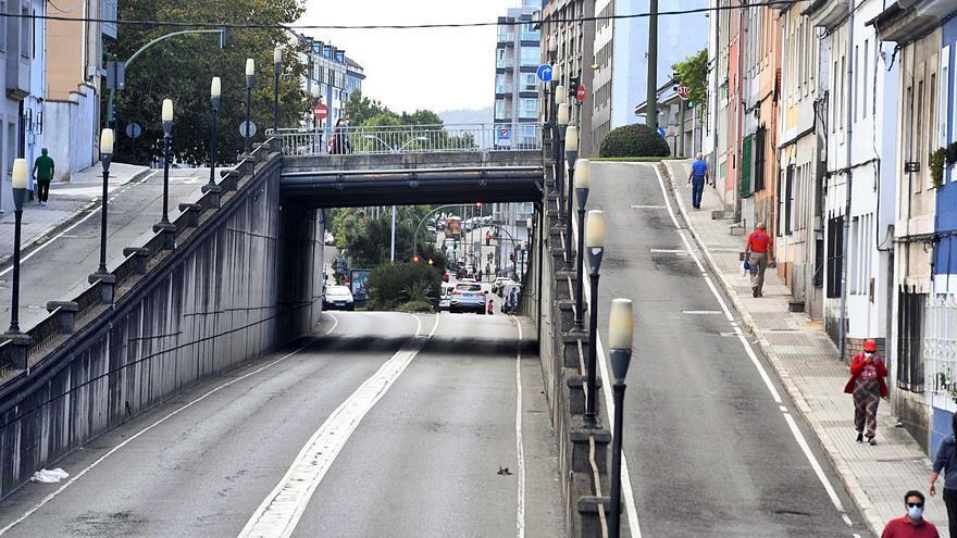 Movilidad eliminará el paso de la avenida de Arteixo bajo la ronda de Nelle por su deterioro